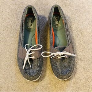 Keds Wool Laced Boat Slip On Shoes